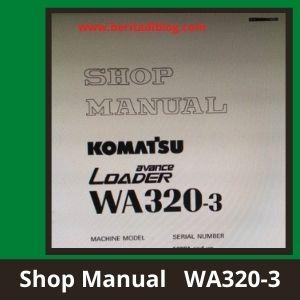Wheel loader wa320-3 shop manual komatsu.