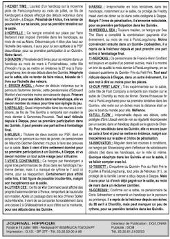 programme quinté Pronostic samedi 28/08/2021