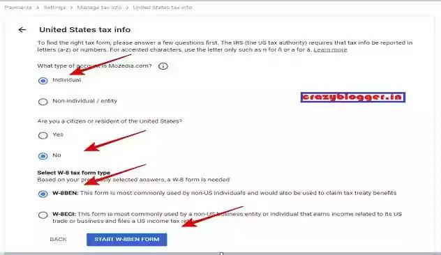 Google AdSense में Tax Information Submit कैसे करें