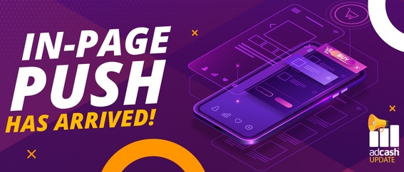 Publicidad In-Page Push de Adcash