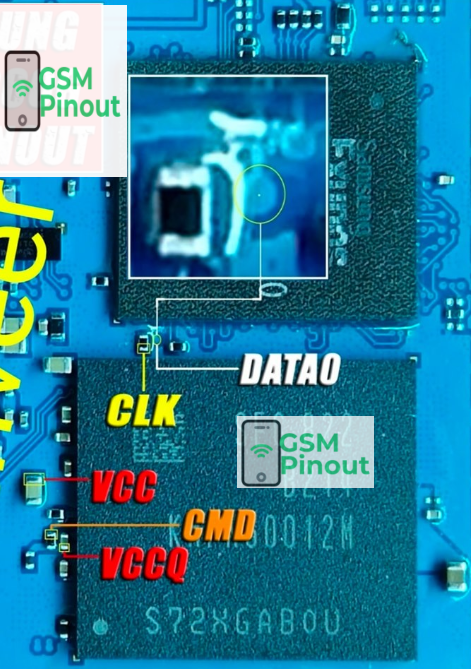 Samsung J2 Core SM-J260G ISP PINOUT/EMMC PINOUT For Deadboot