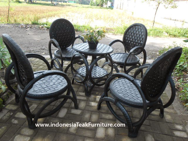tyre chairs and table