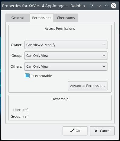 menggunakan appimage linux executable