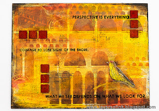 Layers of ink - Perspective is everything Tutorial by Anna-Karin, StencilGirl guest design post