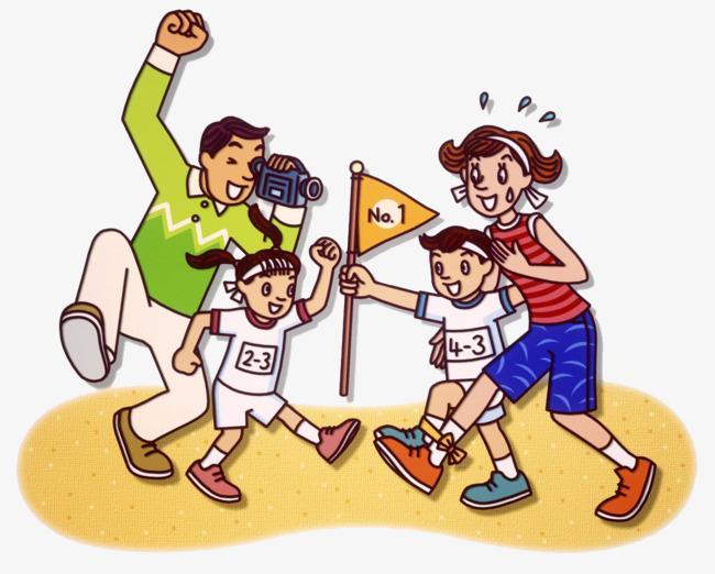Моя спортивная семья в картинках