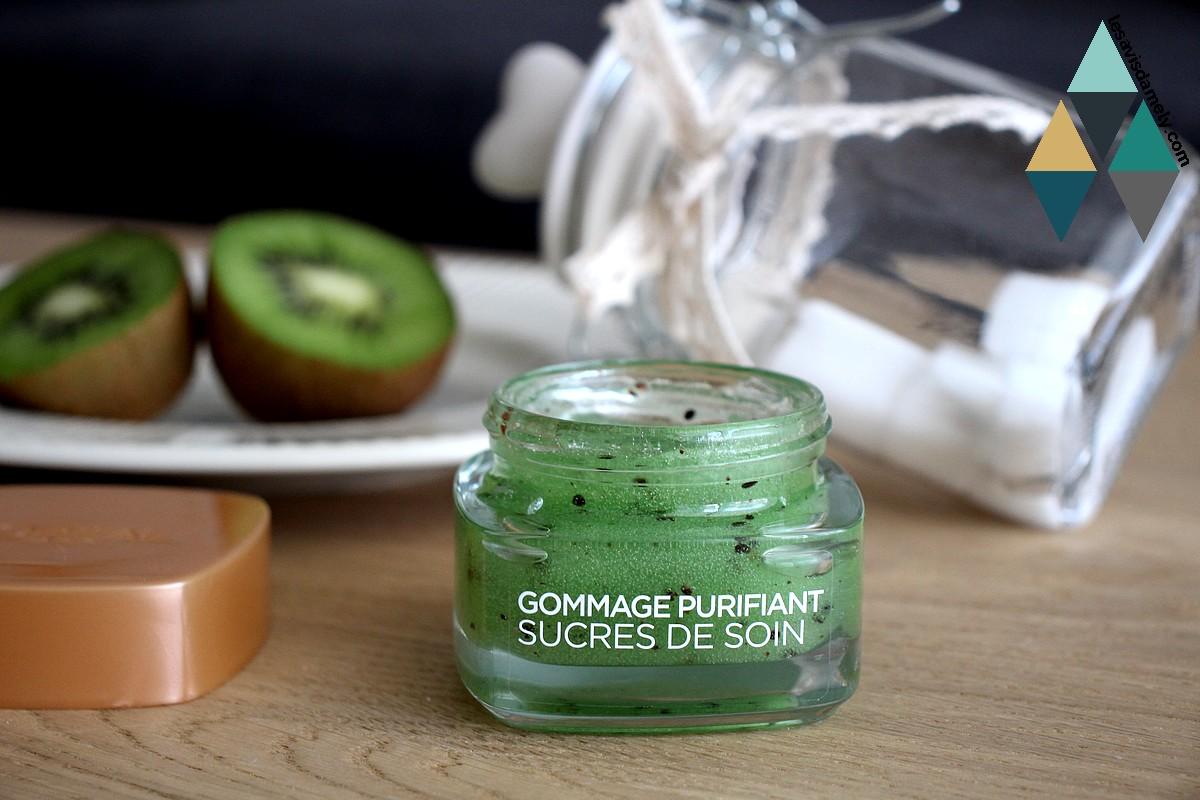 exfoliant douceur purifiant sucre et pépin de kiwi l'Oréal Paris