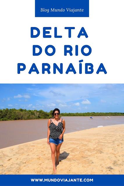 cartaz delta do rio parnaiba e foto de mulher em frente a um delta