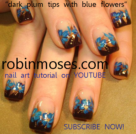 Nail Art Designs Blue Tips To Bend Light