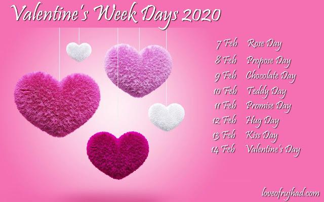 Valentine's Week List 2020