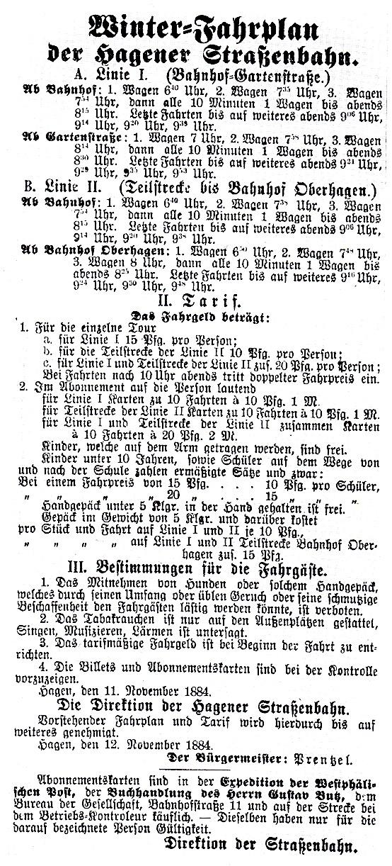 Тарифно-маршрутное расписание 1895 года