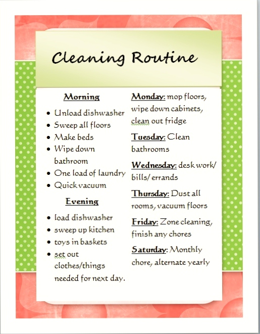 Simplify Your Family Cleaning Routine - FREE Printable