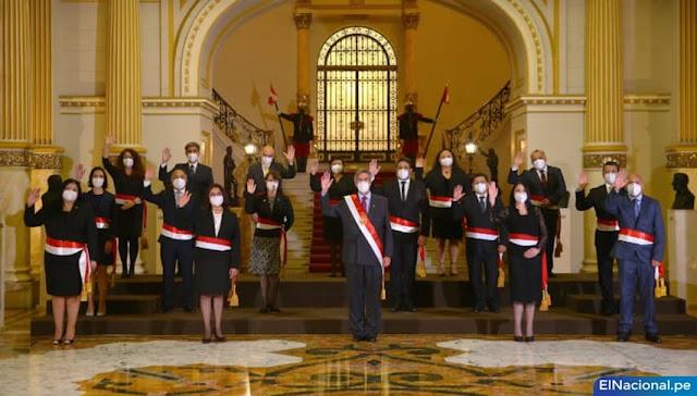 Ministros del gabinete de Francisco Sagasti