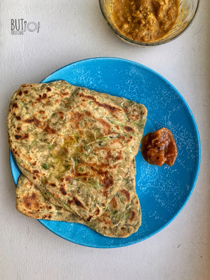 Bottle Gourd Dill Leaves Flatbread | Lauki Paratha
