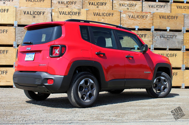 2015 Jeep Renegade Sport rear 3/4