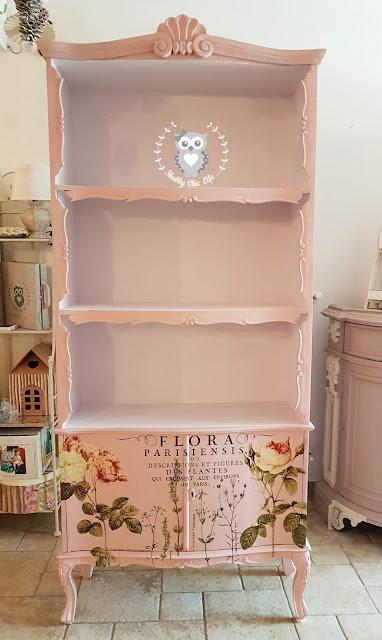 transfer, iod, arredamento, casa, decora facile, shabby chic, libreria, soggiorno