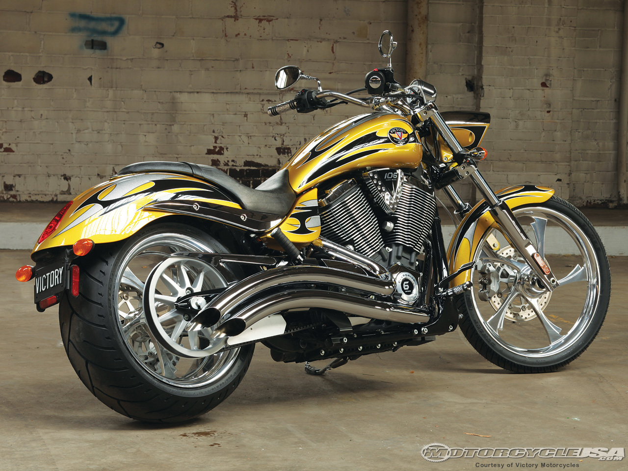 victory motorcycles bikes motorcycle custom jackpot vegas ideal choppers yellow usa engine