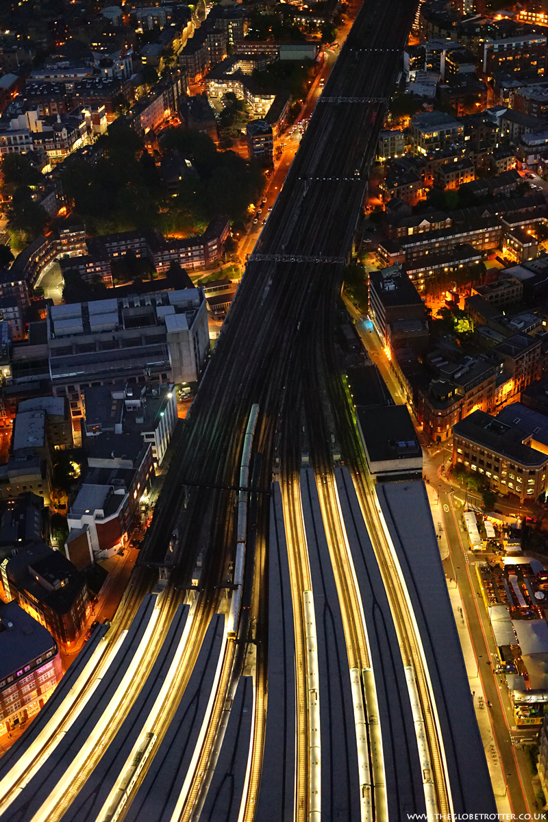 London Bridge Station as seen from the Shard