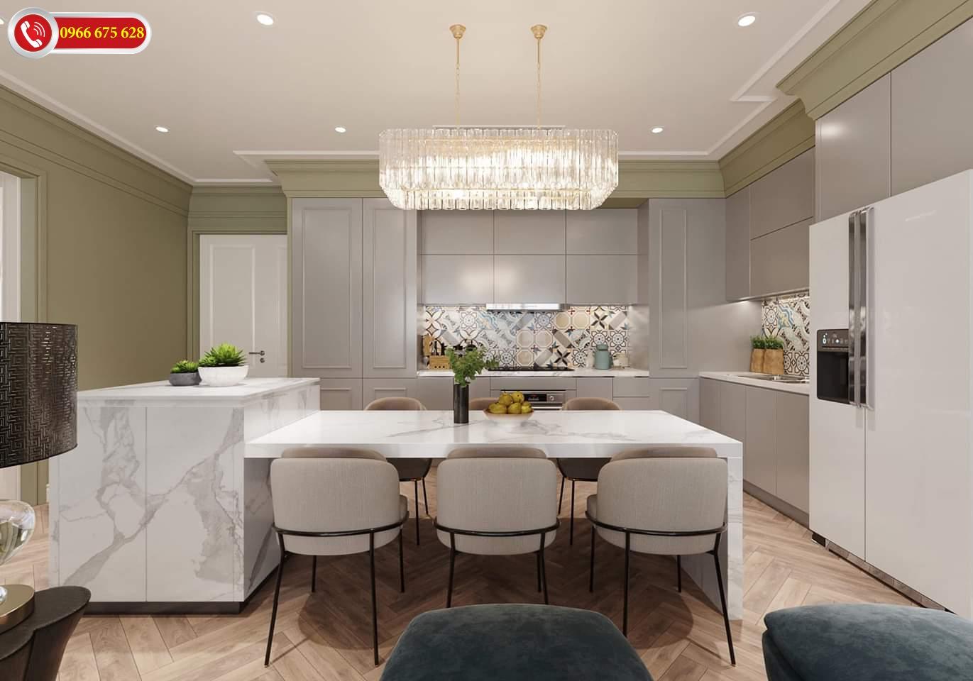 Phòng bếp của dự án Amber Riverside Minh Khai