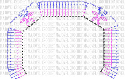patron bolero - copia Crochet Imagen Lindo bolero a crochet y ganchillo muy fácil y sencillo por Majovel Crochet.
