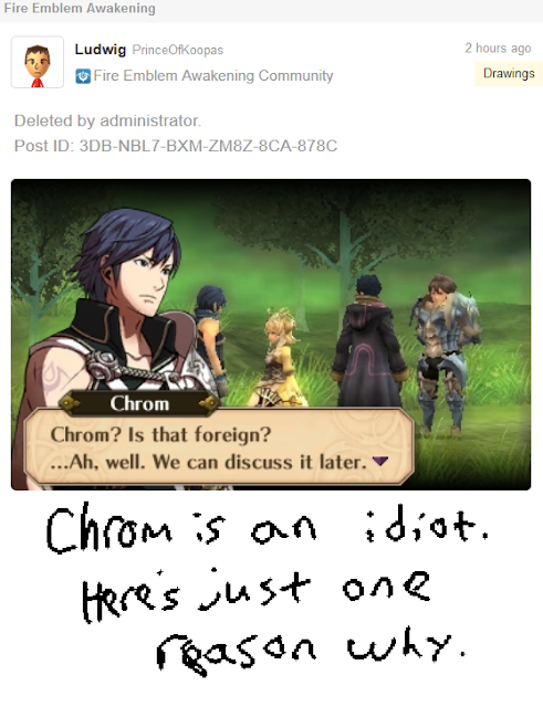 Fire Emblem Awakening Chrom is an idiot