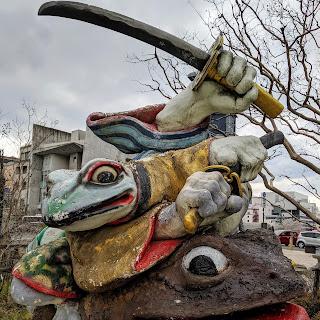Matsumoto points of interest: Matsumoto Samurai Frog