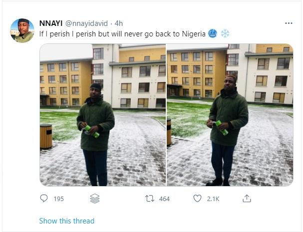'If I perish, I perish' - Ireland Based Nigerian Man Vows Never To Return To Nigeria
