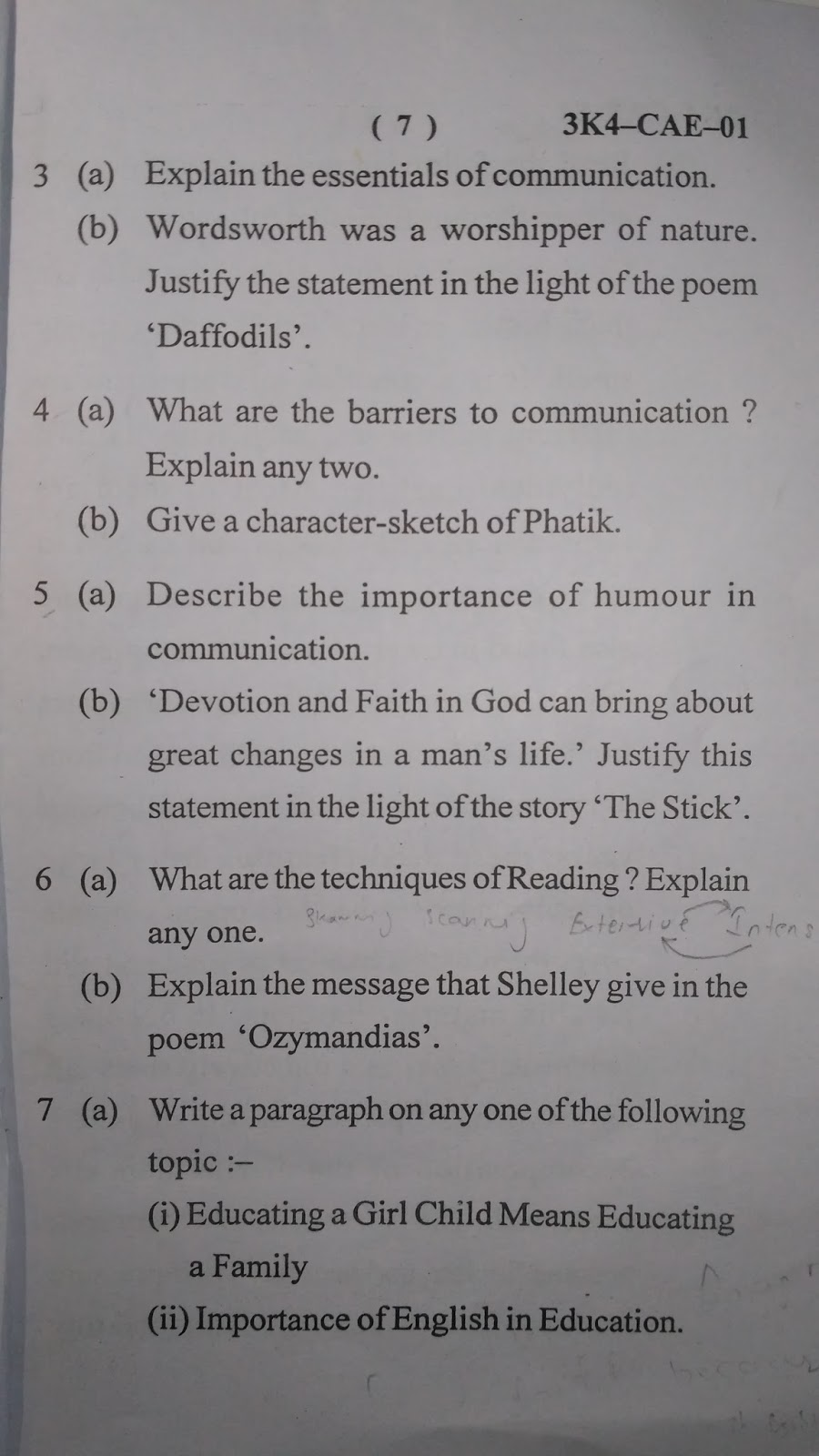 question paper of english and communication skills i question paper of english and communication skills i 2016 of civil