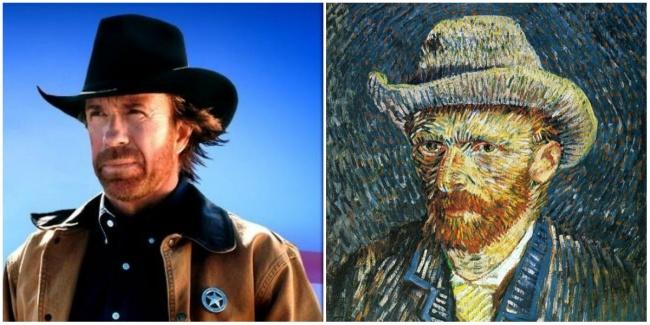 Chuck Norris e Vincent van Gogh