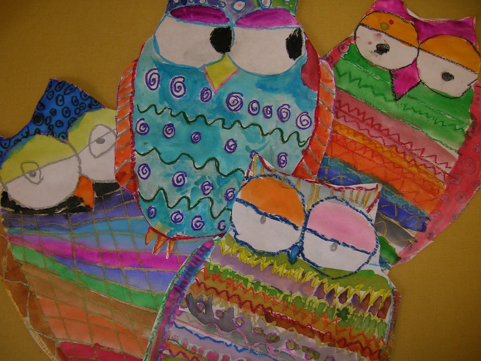 The Elementary Art Room Pattern Owls
