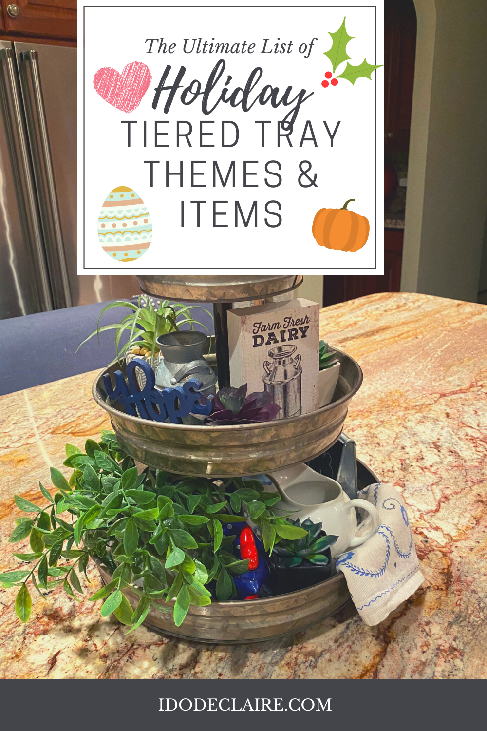 The Ultimate List of Tiered Tray Items for Holidays