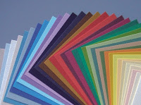 Fabriano Tiziano paper used for soft pastels, available in different colours