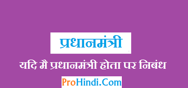 Essay On Prime Minister in Hindi-