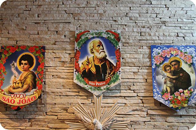 Decoração de Festa Caipira - Junina : Cartazes com os Santos