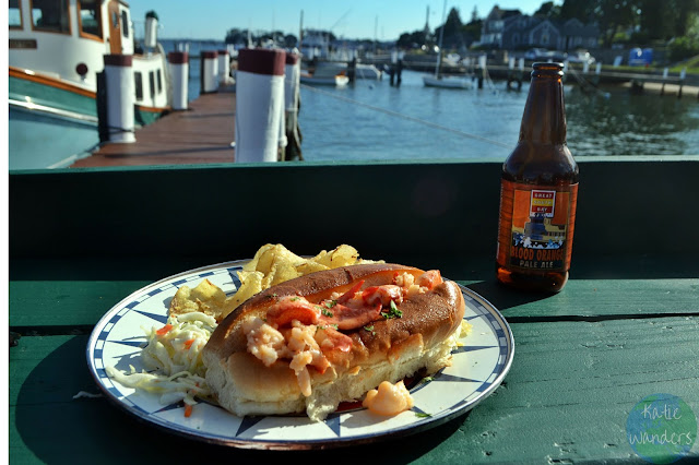 Hot Lobster Roll at Ford's Lobsters Noank