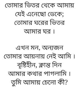 Tomar Bhetor Theke Lyrics