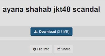 download video foto skandal ayana shahab achan jkt48 graduate grad scandal