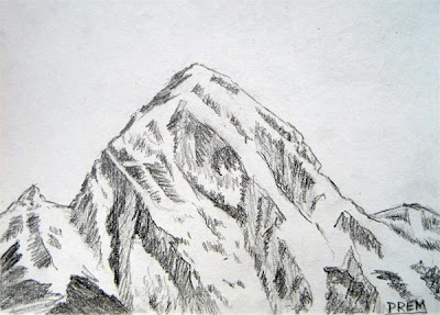 Easy Drawing of a Simple Mountain