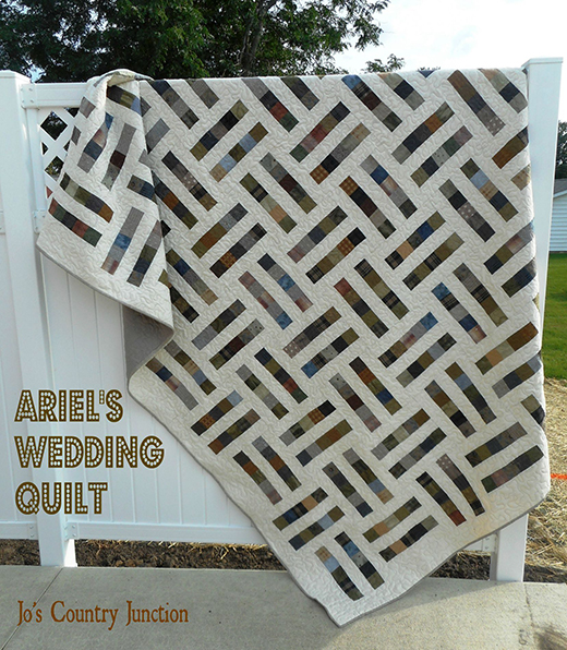 Ariel's Wedding Quilt Free Pattern Designed by Jo Kramer of Jo's Country Junction
