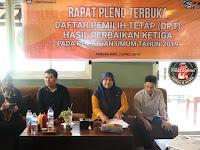 Tetapkan DPTHP-3, KPU Pangkep Sebut  Ada 1.123 Pemilih Tidak Memenuhi Syarat