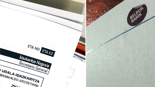 Imagen de los documentos oficiales con el anterior y el actual lema