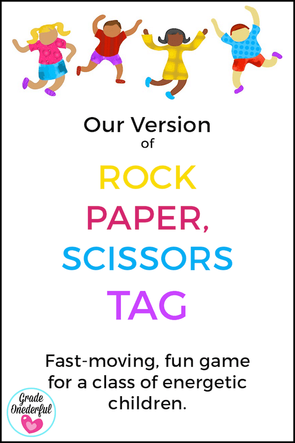 Rock, Paper, Scissors Tag game. A fun, fast-moving game for kids 7 to 15.