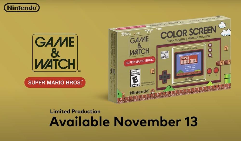 Game & Watch: Super Mario Bros.   Ein limitierter Klassik-Handheld in moderner Ausführung steht in der Pipeline