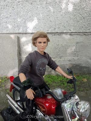 Mattel Barbie doll Ken Harley Davidson motorcycle