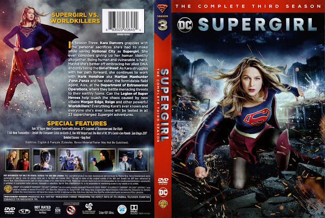 Supergirl Season 3 DVD Cover
