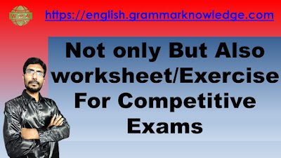 Not only But Also worksheet