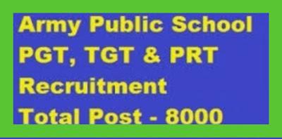 APS: Army Public School - Announcement for 8000 Teacher Jobs.