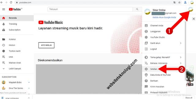 Cara Membuat Banyak Channel Youtube dengan 1 -Satu Akun Email Gmail Google