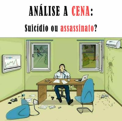 Análise a cena - Suicídio ou assassinato?
