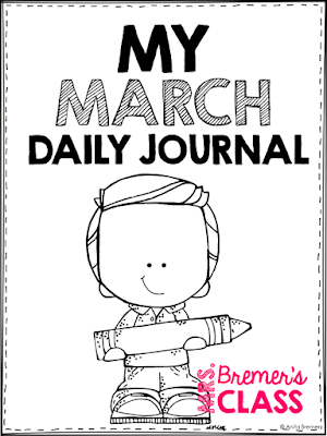 No Prep Daily Journal Writing Prompts for March! This pack includes writing stationery paper for the month of March. It is packed with prompts that will help kids generate LOTS of ideas what to write about. It also includes several seasonal acrostic poetry options. Create a monthly writing portfolio for each student! K-3 #journals #writingprompts #writing #kindergartenwriting #1stwriting #2ndwriting #spring #education #noprep