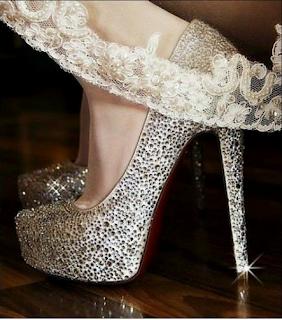 parıltılı gelin ayakkabısı